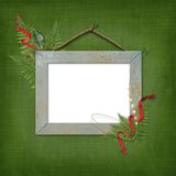 Wooden frame for picture or photo Royalty Free Stock Images