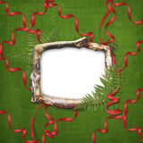 Wooden frame for picture or photo Stock Photography