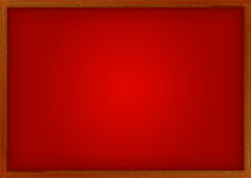 Wooden frame for product placement with red gradient background Royalty Free Stock Photo