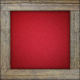Wooden frame with red canvas Royalty Free Stock Photography