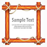Wooden frame with rope Stock Images