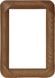 The wooden frame with the rounded edges Royalty Free Stock Image
