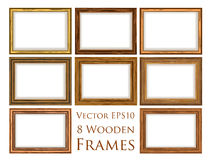 Wooden frame set. Stock Photos