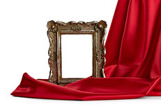 Wooden frame and silk cover Stock Images