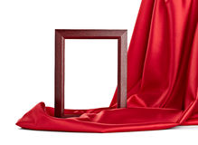 Wooden frame and silk cover Royalty Free Stock Image