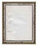 Wooden frame with stained paper interior Royalty Free Stock Image