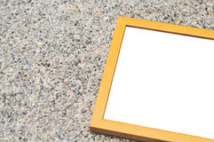 Wooden Frame Stone Concrete Background. Wooden Frame For Quote On Stone Concrete Background Stock Images