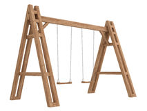 Wooden A-frame with swings Royalty Free Stock Photography
