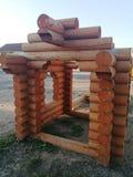 Wooden frame unfinished stock images