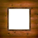 Wooden frame in Victorian style Stock Photos