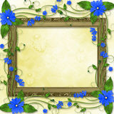 Wooden frame in the Victorian style Royalty Free Stock Photo