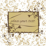 A wooden frame with vintage flowers worn. A wooden frame with vintage flowers  worn Royalty Free Stock Images