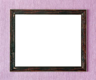 Wooden frame wall Royalty Free Stock Photo