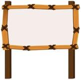 Wooden frame on white background Stock Photos