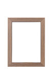 Wooden frame on white background Royalty Free Stock Image