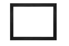 Wooden frame on white background Royalty Free Stock Photos