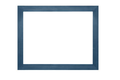 Wooden frame on white background Stock Image