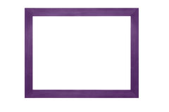 Wooden frame on white background Stock Photos