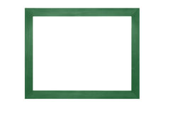 Wooden frame on white background Stock Photo