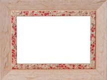 A wooden frame with white colored Stock Photography