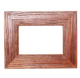 Wooden frame on white Royalty Free Stock Photos