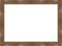 Wooden frame on white Royalty Free Stock Photo