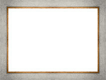 Wooden frame on white Stock Images