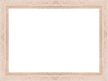 Wooden frame on white Stock Photography