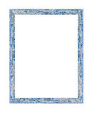 Wooden frame on white Royalty Free Stock Images