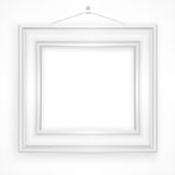 Wooden frame on white Royalty Free Stock Photography