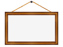 Wooden frame, widescreen 16:9 format Royalty Free Stock Photography