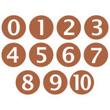 Wooden Framed Numbers Stock Photos