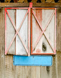 Wooden framed window Royalty Free Stock Photos