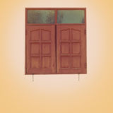 Wooden framed window Royalty Free Stock Images
