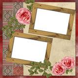 Wooden frames Royalty Free Stock Images