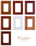 Wooden frames. Collection of wooden frames on white background Royalty Free Stock Photos
