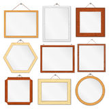 Wooden Frames. Set of wooden frames on white background Stock Photo