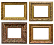 Wooden frames with carving Royalty Free Stock Photo