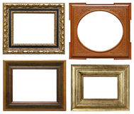 Wooden frames with carving Stock Photography