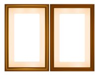 Wooden frames, cdr vector Stock Photography
