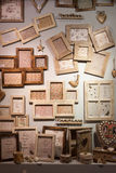 Wooden frames on display at HOMI, home international show in Milan, Italy Royalty Free Stock Image