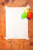 Wooden frames easter eggs Royalty Free Stock Photo