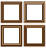 Wooden frames isolated on white Stock Photo