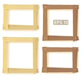 Wooden frames set, picture Stock Images