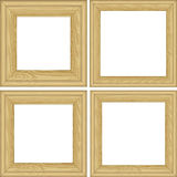 Wooden frames Stock Images