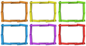 Wooden frames Stock Photography