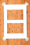 Wooden frames stationery message Stock Photo
