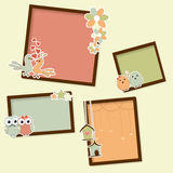 Wooden frames for Valentines Day. Royalty Free Stock Photography