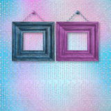 Wooden frames for a wedding, christening Royalty Free Stock Image