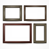 Wooden frames on white Royalty Free Stock Photos